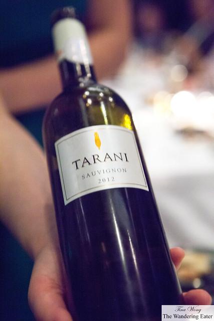 Tarani Sauvignon Blanc 2012 to pair with our salmon course