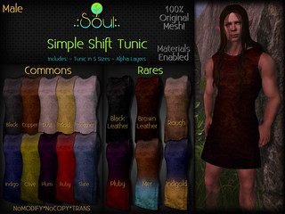 2014 Simple Shift Tunic Gatcha Male | by .:Charlie:. of .:Soul:.