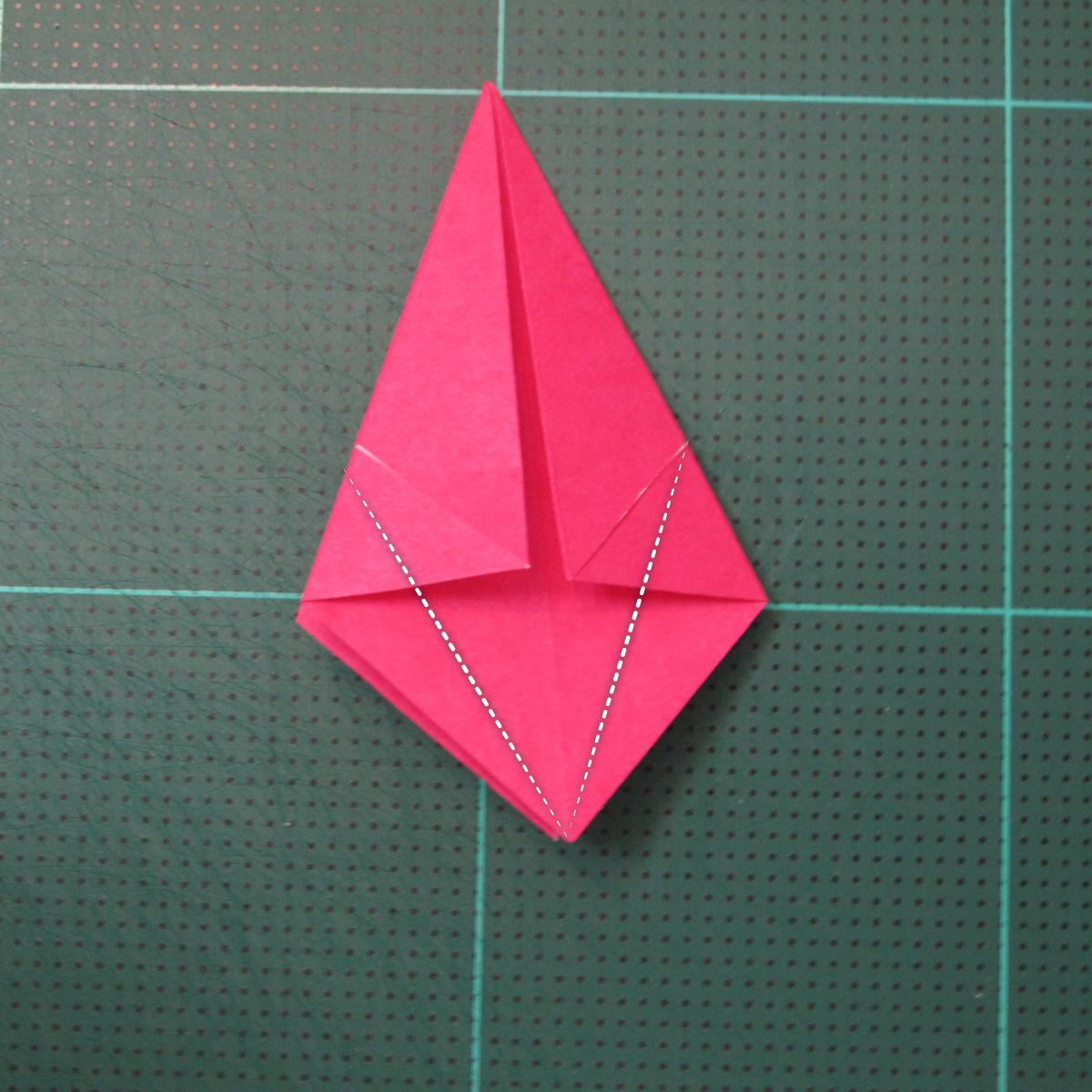 การพับกระดาษแบบโมดูล่าเป็นดาวสปาราซิส (Modular Origami Sparaxis Star) 007