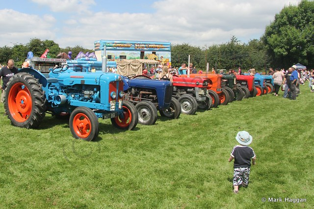Xander inspects the tractors