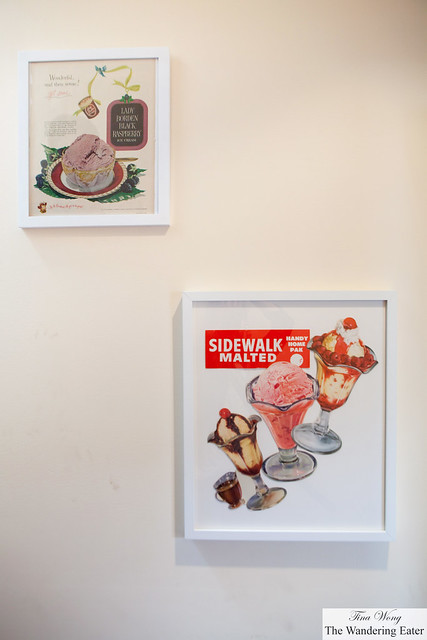 I like the vintage ice cream advertisements