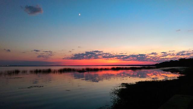 Lake Monroe just after sunset