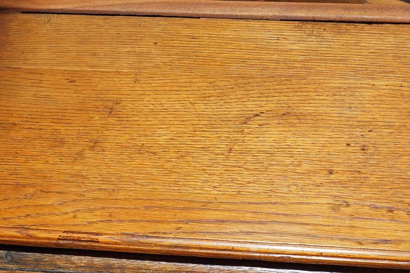 CH0072 Antique Oak Secretary DSC01377