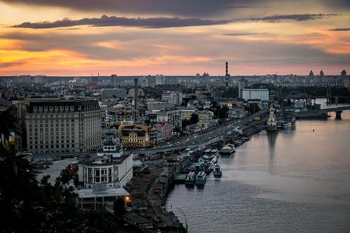 Sunset, Kyiv   by anzax