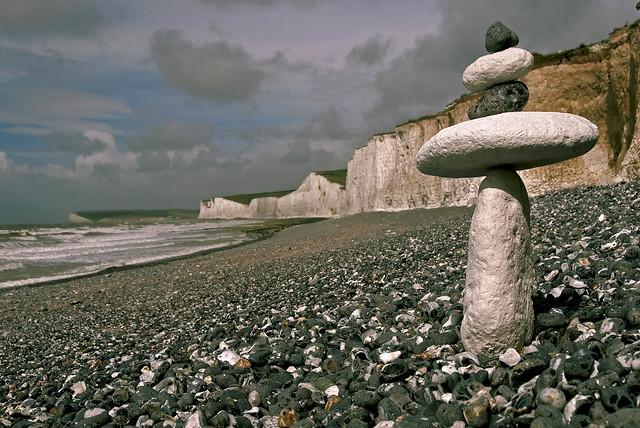 5 Stones at Birling Gap  [ Expored on 12 September 2014]