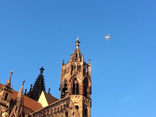 Drone over Freiburg. | by adactio