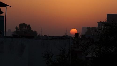 city travel orange india sunrise canon buildings photography indiatravelphotography samsunggalaxykzoom gurugram
