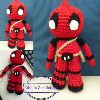 Deadpool Crochet pattern PDF Amigurumi superheroes Comics inspired ... | 320x320