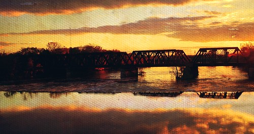 bridge columbus sunset ohio water photoshop river unitedstates artistic railway 5photosaday sonyslt