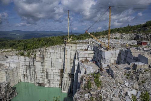 day cloudy newengland quarry rockofages barrevermont granitequarry elsmithquarry granitevillevermont pitquarry swensongranitecompany