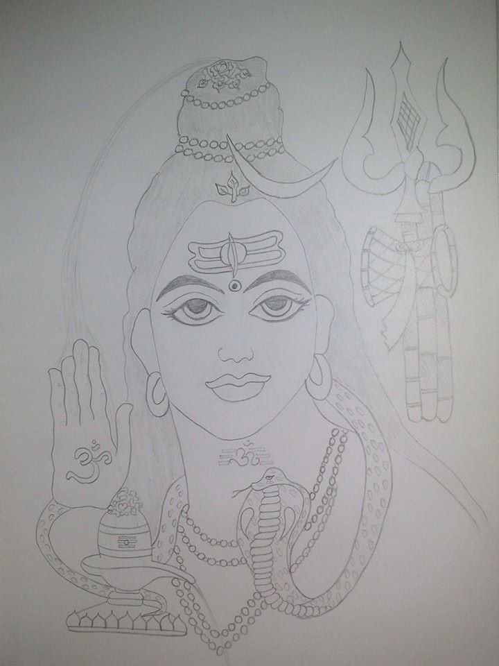 Lord Shiva Sketch 23 Subhash Sharma Flickr