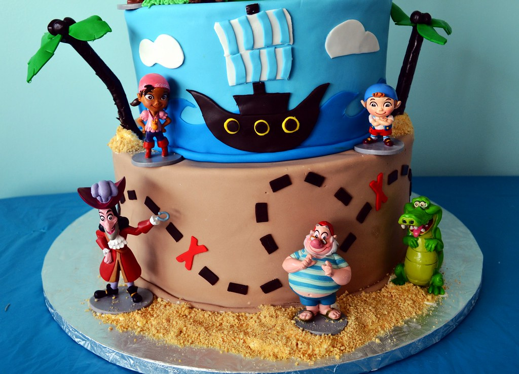 Remarkable Jake The Pirate Birthday Cake Simply Sweet Creations Flickr Funny Birthday Cards Online Alyptdamsfinfo