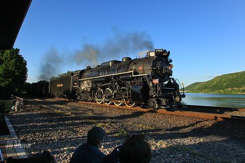 sunset river trains susquehanna prr nkp duncannon 765 middledivision