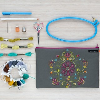 Making something useful with your embroidery? The best. Hello, new embroidery pouch!