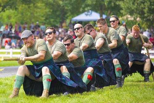 Highland Regiments Tug-of-War   by Jamie McCaffrey