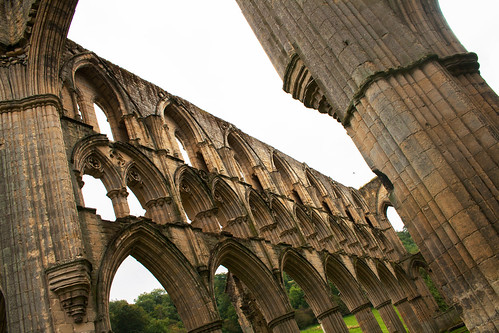 A photograph showing the inside of the nave at Rievaulx Abbey, by Icy Sedgwick.