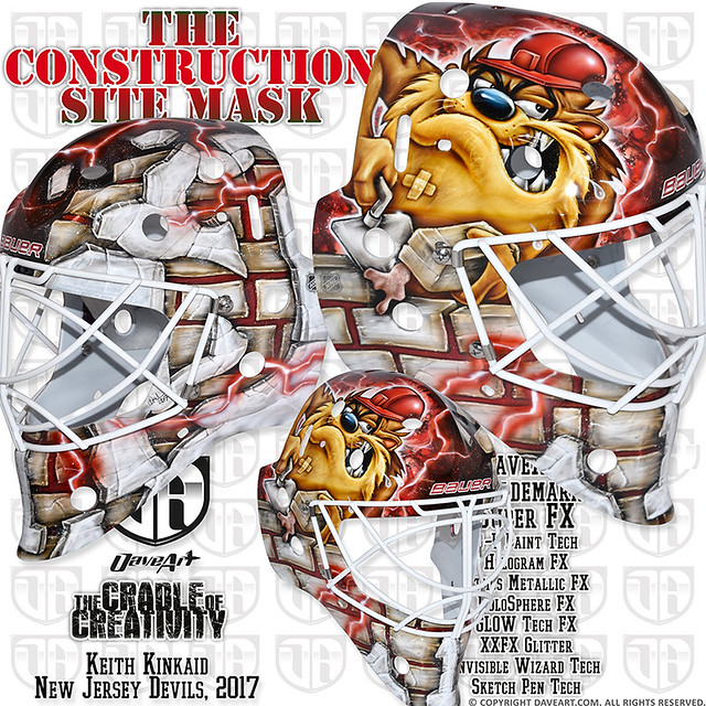 release date: f27fd a6597 The Construction Site Mask - Keith Kinkaid, New Jersey ...