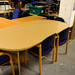 Rounded meeting desk