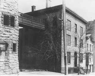 albany county jail adjacent to  Albany city hall  on Maiden Lane  (now corning Place)  c 1885  albany ny 1880s | by albany group archive