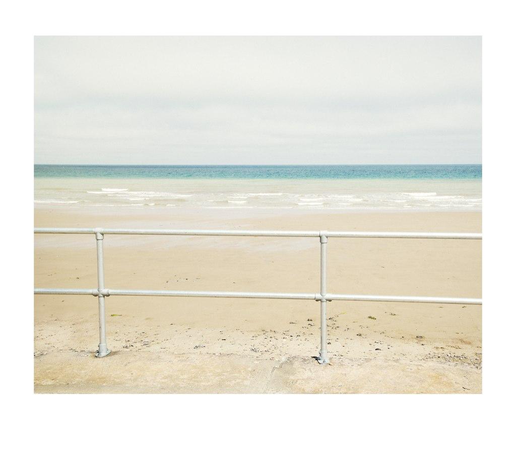 Railings, sea and sky
