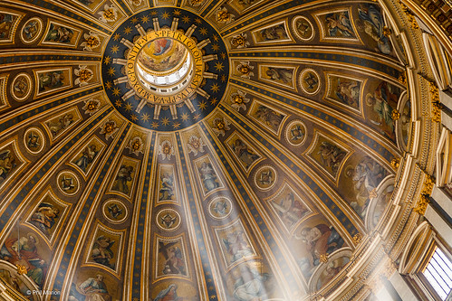 Light beams shining through the dome of St. Peter's Basilica - Vatican | by Phil Marion (180 million views - THANKS)