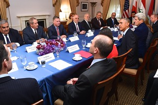 President Obama Addresses Reporters During Meeting With Anti-ISIL Coalition on Sidelines of UN General Assembly