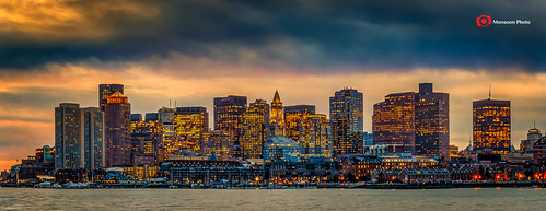 boston skyline downtown dusk hdr eastboston nikfilter canon24105mmllens canon5dmarkiii lightroom5 photoshopcc cmonsoonphoto