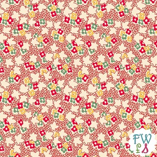 Round 4 Back Porch Prints Mini Floral Red Wilmington