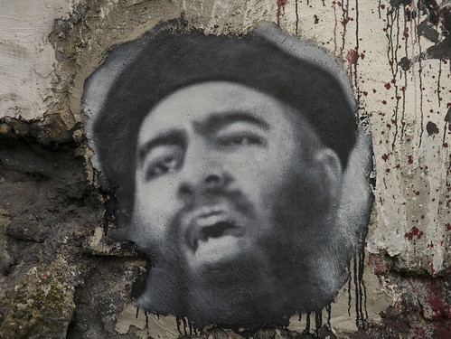 Abu Bakr al Baghdadi, painted portrait  P1040030 | by Abode of Chaos