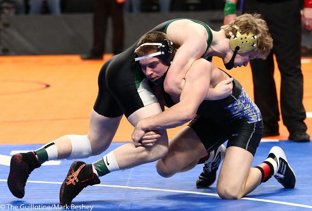 145A - 3rd Place Match - Adam Jaeger (Belgrade-Brooten-Elrosa) 43-3 won by decision over Chandler Mooney (Roseau) 37-6 (Dec 5-1)
