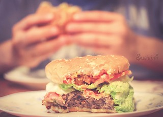 Burgers make me oh so happy! - 216:365 | by susivinh