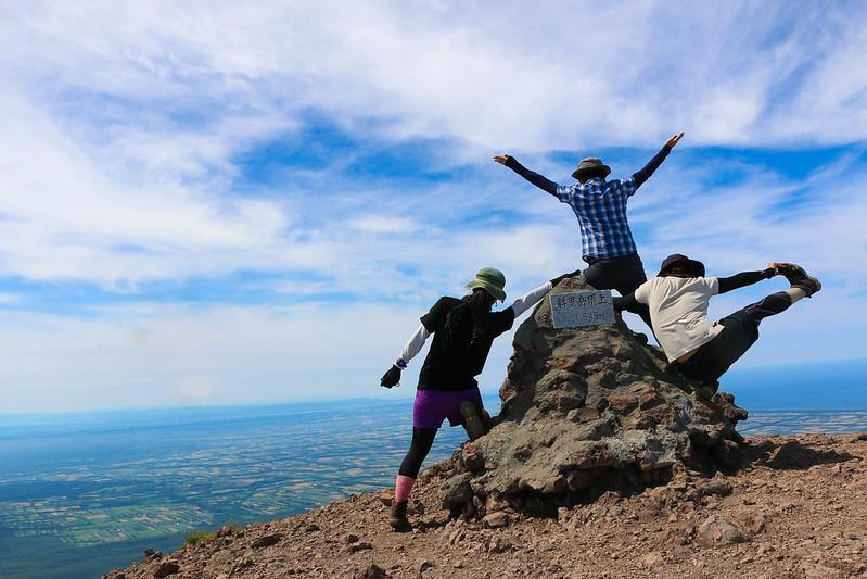 斜里岳の集合写真