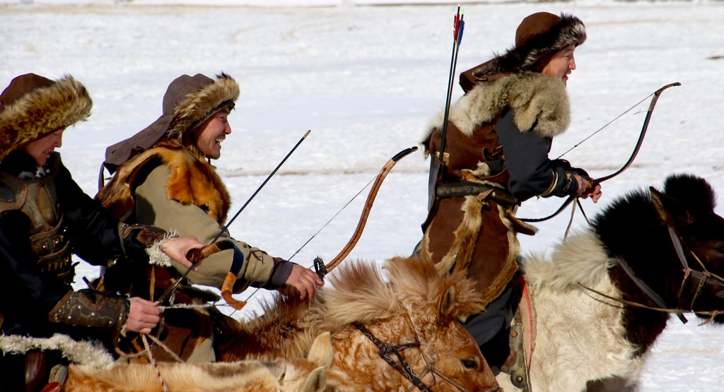 Warriors of the Steppes   Mongol horsemen, at the eagle fest…   Flickr