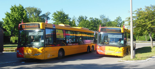 Route 6A southern terminus with Scania Omnilinks 1089 + 1090