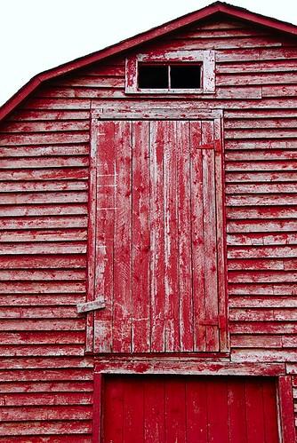 door wood red barn newfoundland wooden paint painted nfld randomisland