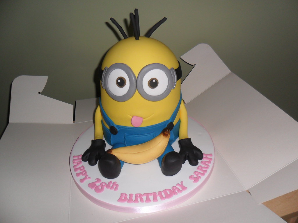 Remarkable Large Despicable Me Minion Birthday Cake Large Despicable Flickr Funny Birthday Cards Online Inifofree Goldxyz