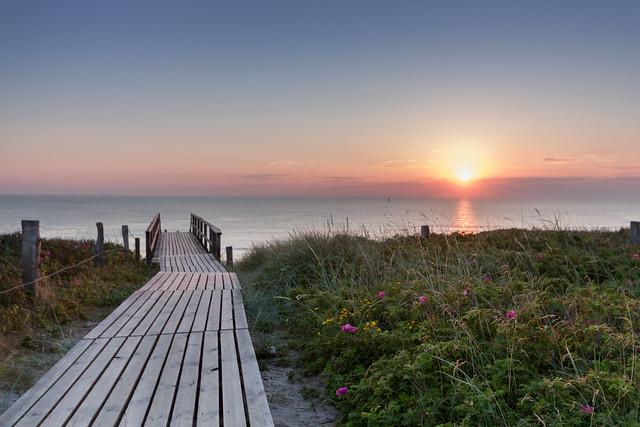 kitschy sunset @ Sylt, Germany
