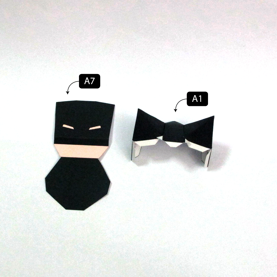 วิธีทำโมเดลกระดาษแบทแมน (Batman Papercraft Model) 002