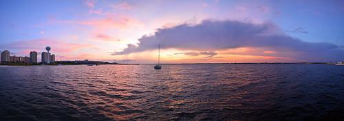 ocean sunset sky bay florida pensacola navarrebeach saltlife santarosasound