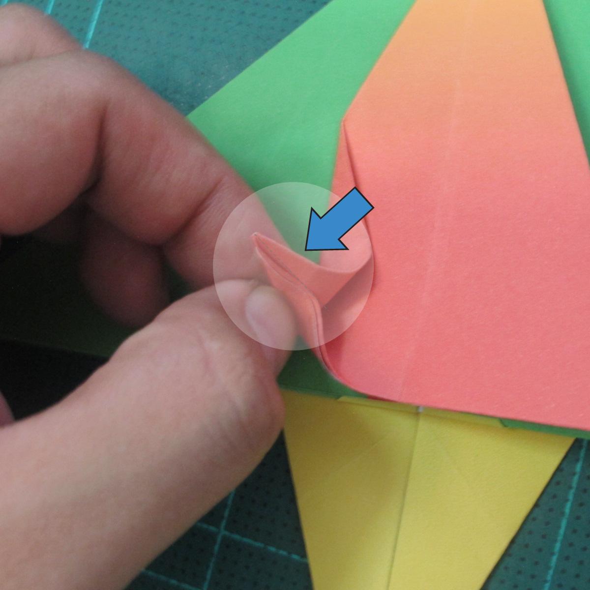 วิธีพับกระดาษเป็นรูปนกแก้ว (Origami Parrot) 020