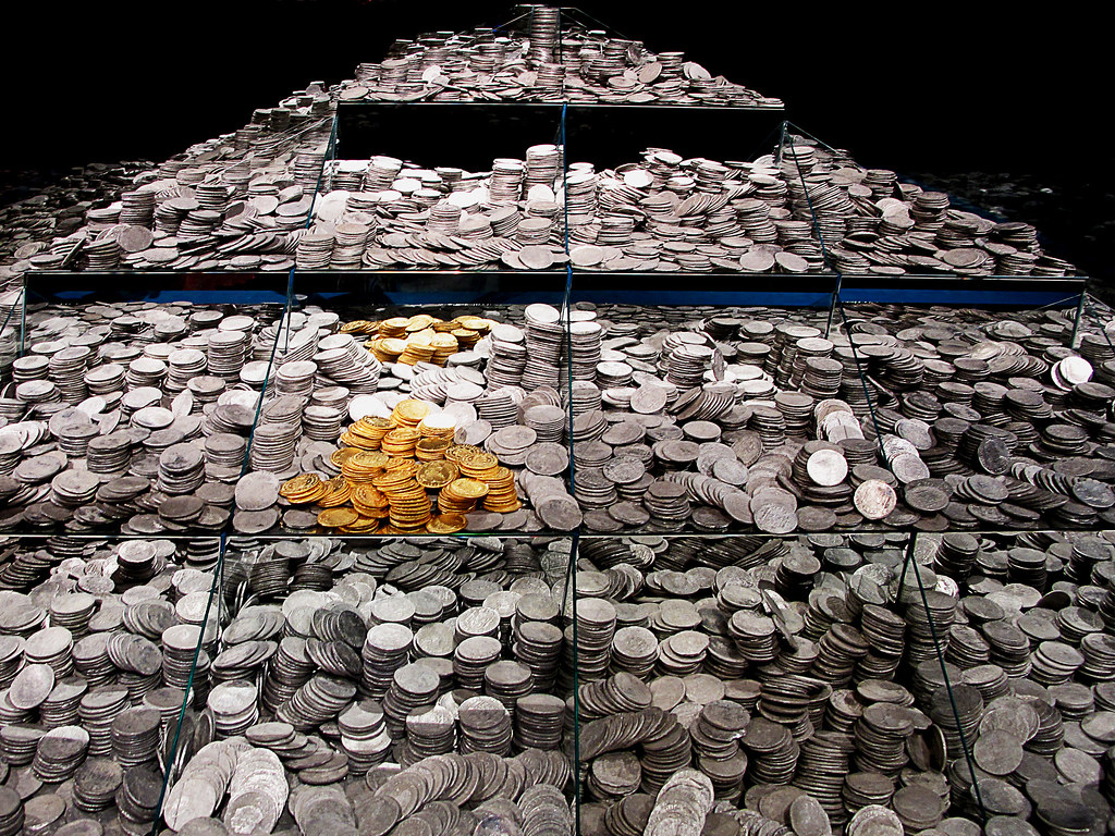 Muestra de algunas de las monedas 'Fragata Mercedes'