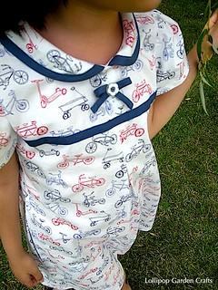 Vintage Style Bicycle Print Dress