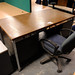 Teak office desk