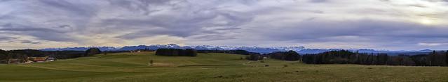Der Blick von der Degerndorfer Höhe nach Süden