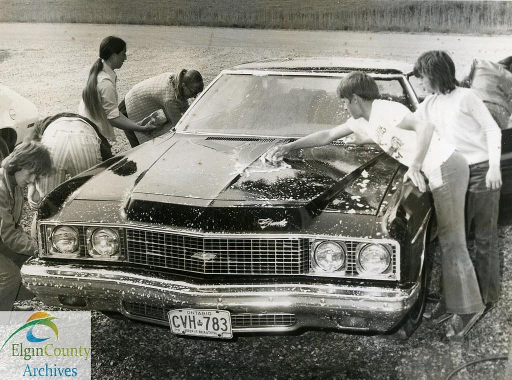 Corinth Public School Fundraiser Car Wash 1974 Title In Flickr