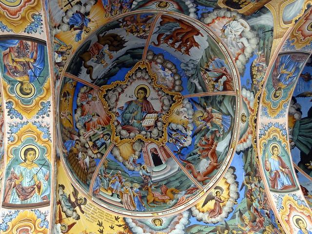Fresco at Rila Monastery in Bulgaria