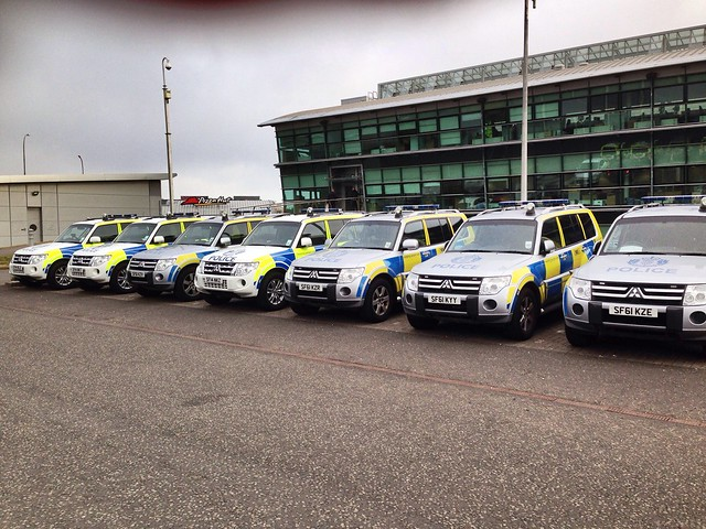 Police Scotland ARV's lined up.