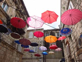 Umbrellas in Korčula Old Town | by fabulousfabs