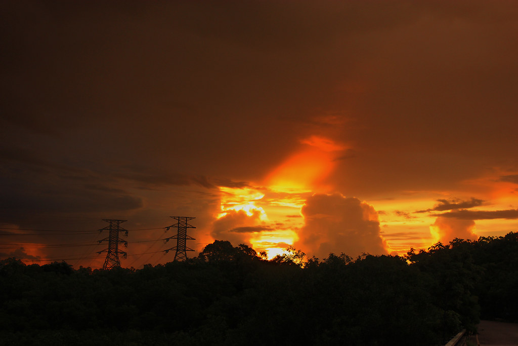 Stormclouds, Channel Island, Darwin at Sunset