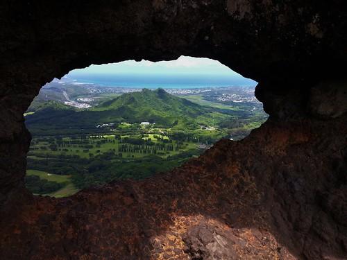 summer cliff mountain mountains geotagged hawaii oahu hiking july koolau trail tropical palilookout 2014 koolaumountains palipuka